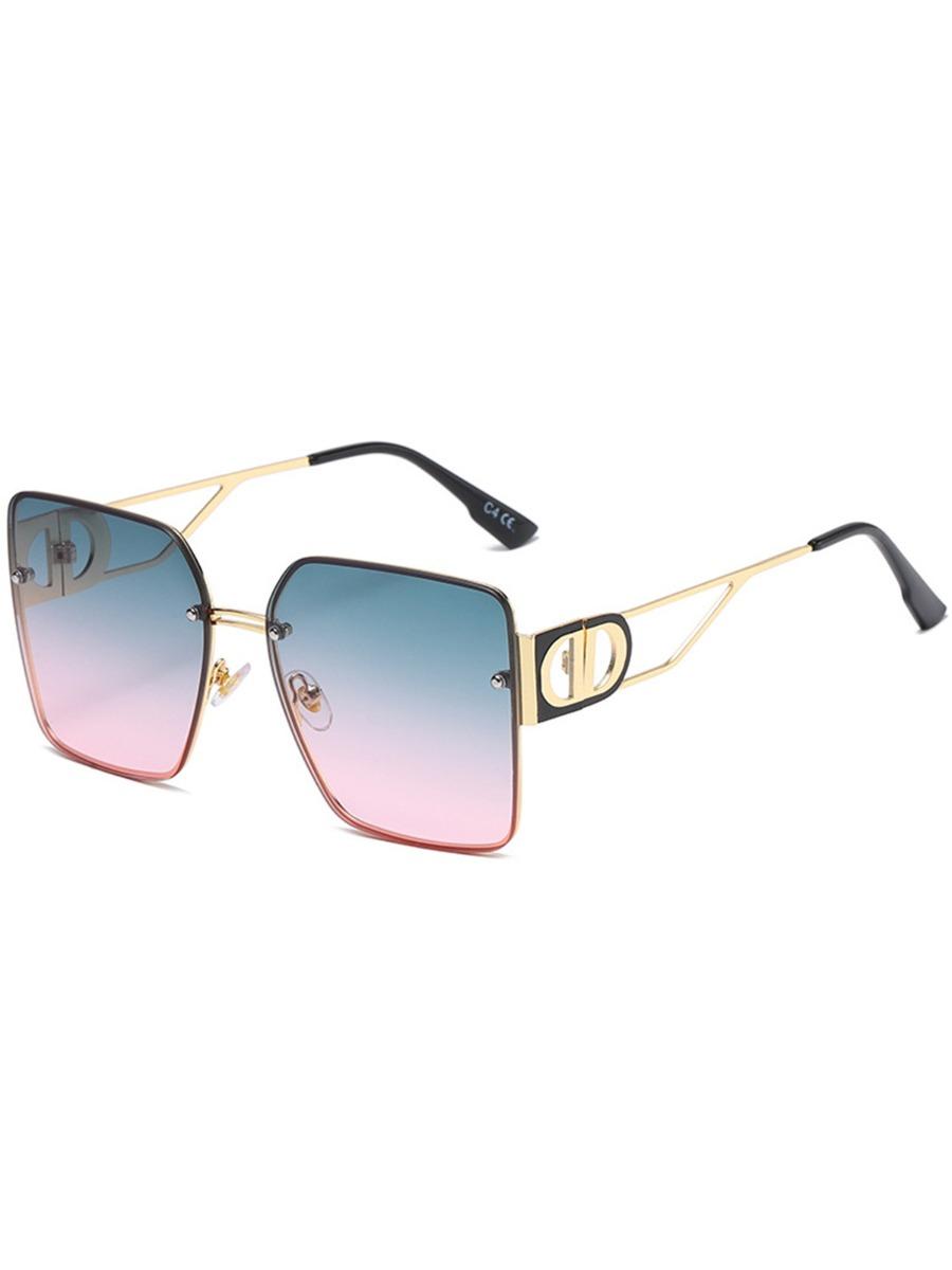 Men's Hollow Frame Square Sunglasses